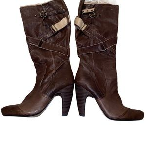 Seychelles Ms Fix It Dark Brown Leather high Boots